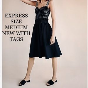 Express sash tie black skirt size medium 🌺🆕🌺